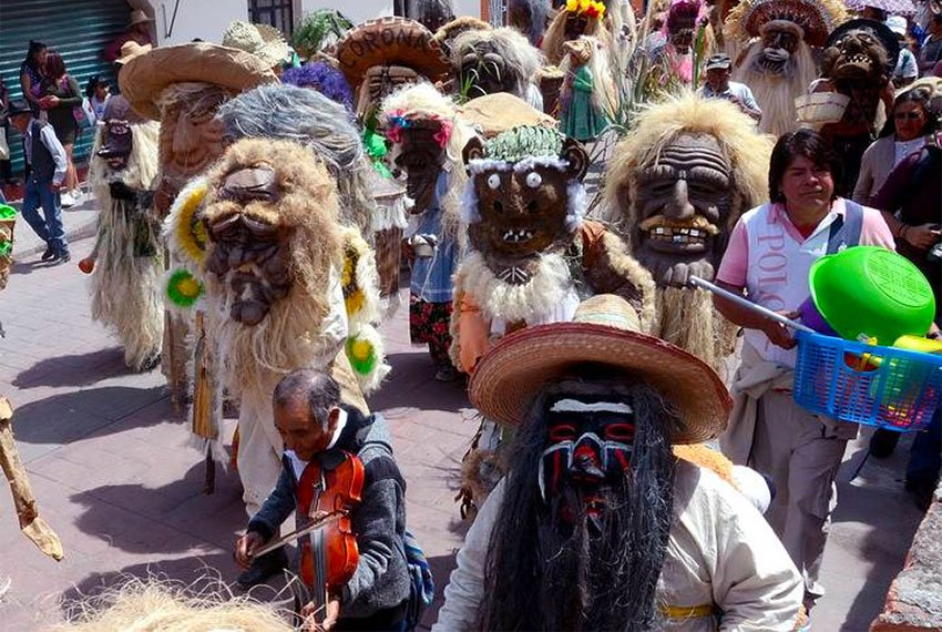 The masked dancers of Temascalcingo, calling for rain.