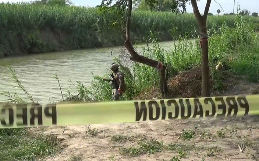 The Rio Grande, where the bodies of father and daughter were found.