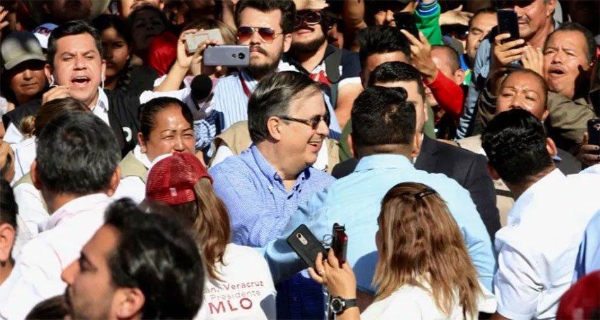 Ebrard gets a hero's welcome in Tijuana.