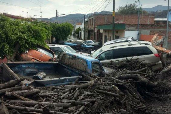 Flooding damage in San Gabriel.