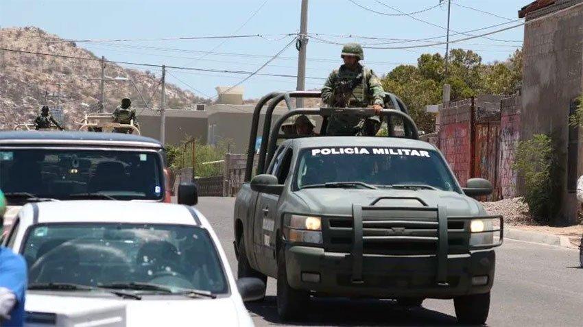 Military police on patrol in Tierra Caliente.