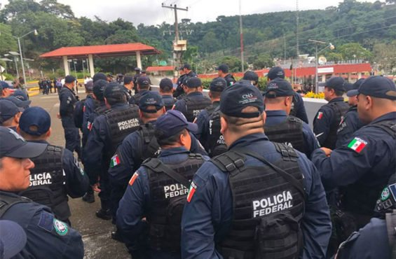 Federal Police at the Guatemala border.