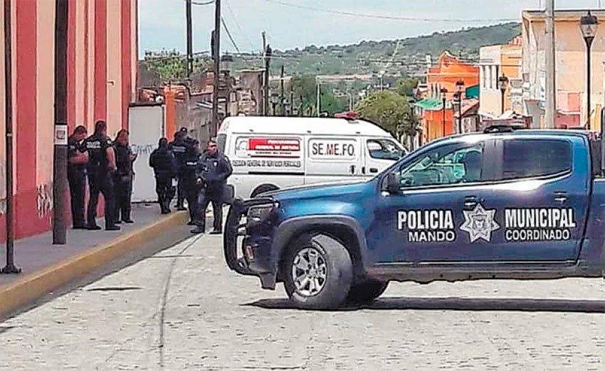 The scene of yesterday's robbery in Hidalgo.