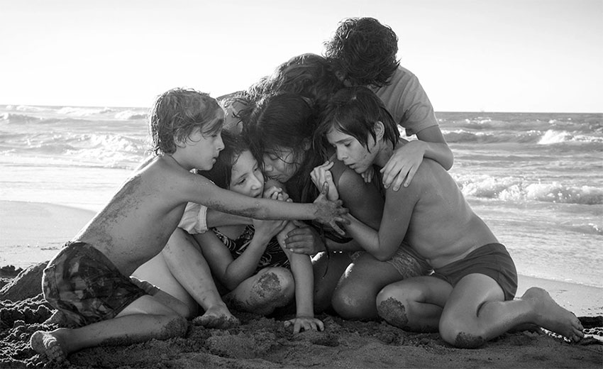 A scene from Roma, which has won 10 more awards.
