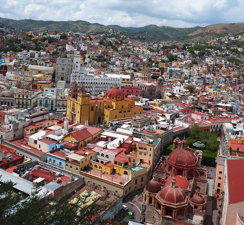 The view of Guanajuato centro from the hill. Mummies are not the only attraction.