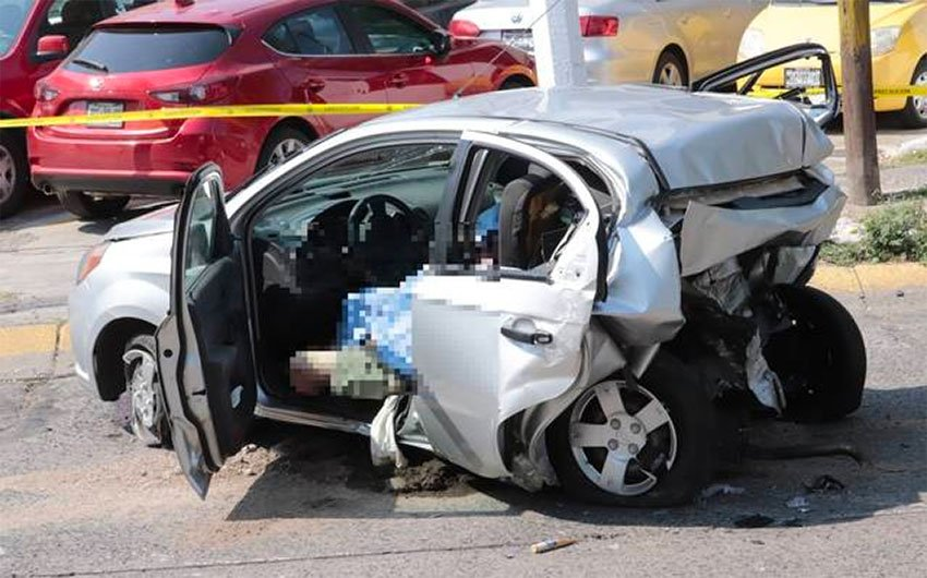 The car in which the two newlyweds died.
