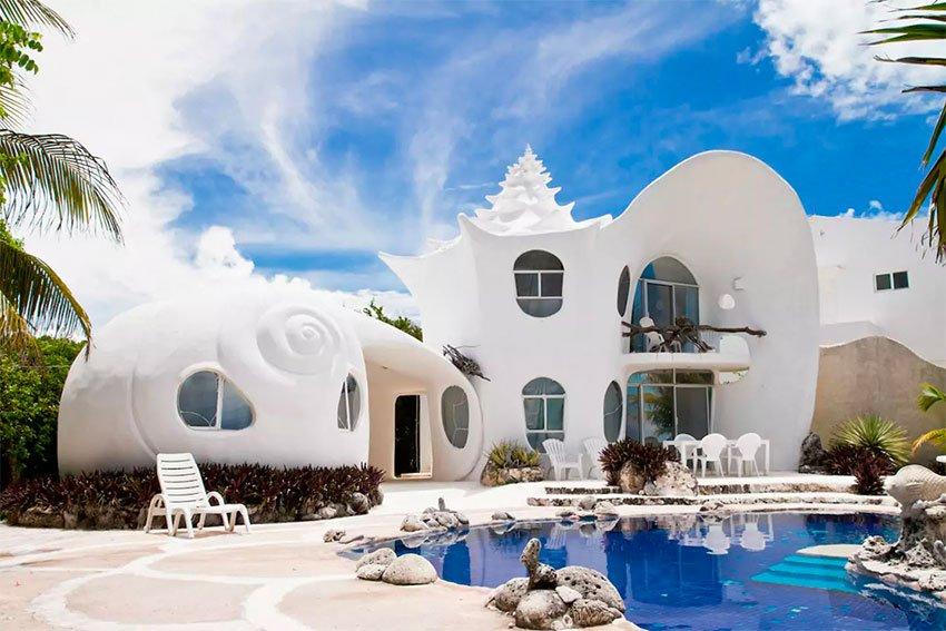 The Seashell House, an Airbnb rental on Isla Mujeres, Quintana Roo.