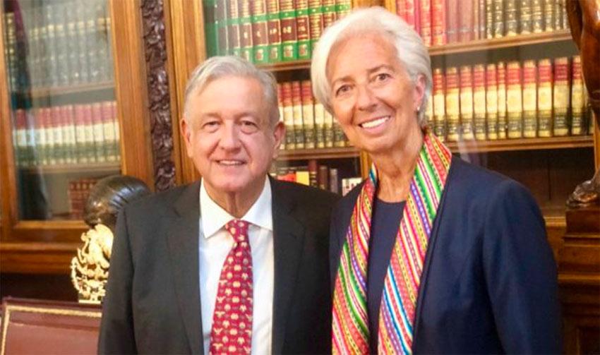 López Obrador and IMF head Christine Lagarde