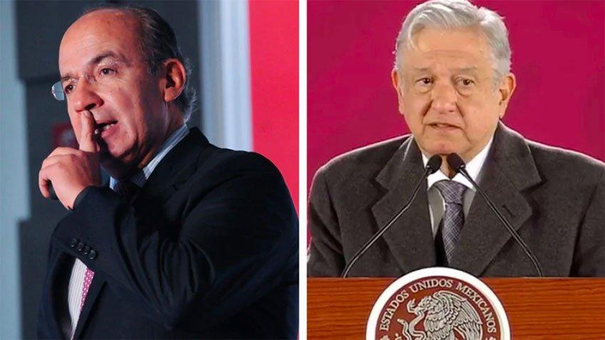 Calderón, left, to AMLO: 'stop dividing the country.'