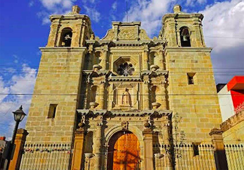 The newly-restored church in Oaxaca's historic center.