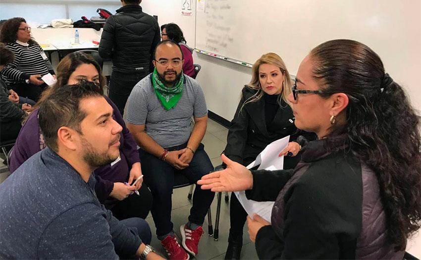 Baja California English teachers at an IAPE workshop.