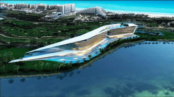 Artist's conception of Cancúns new megahotel.