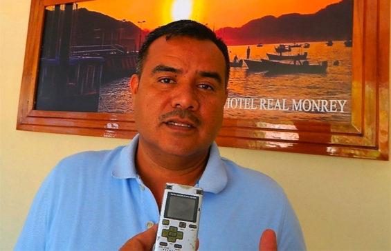 Zihuatanejo hotel owner Pineda.