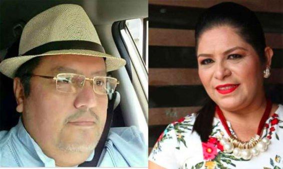 Journalist Jiménez and ex-mayor López.