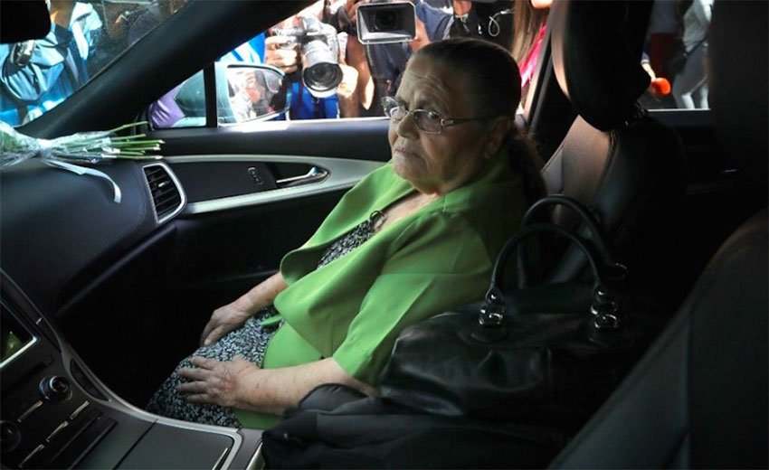 Guzmán's mother during a visit last month to the US Embassy in Mexico City.