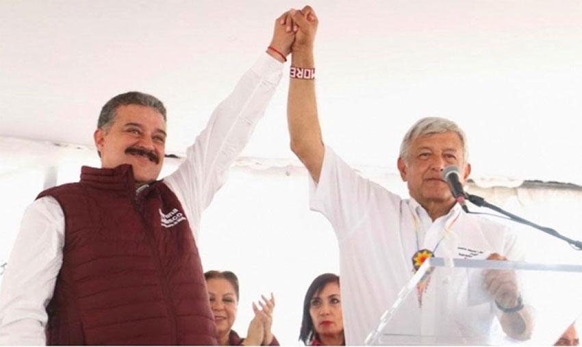 Lomelí, left and López Obrador in a file photo.