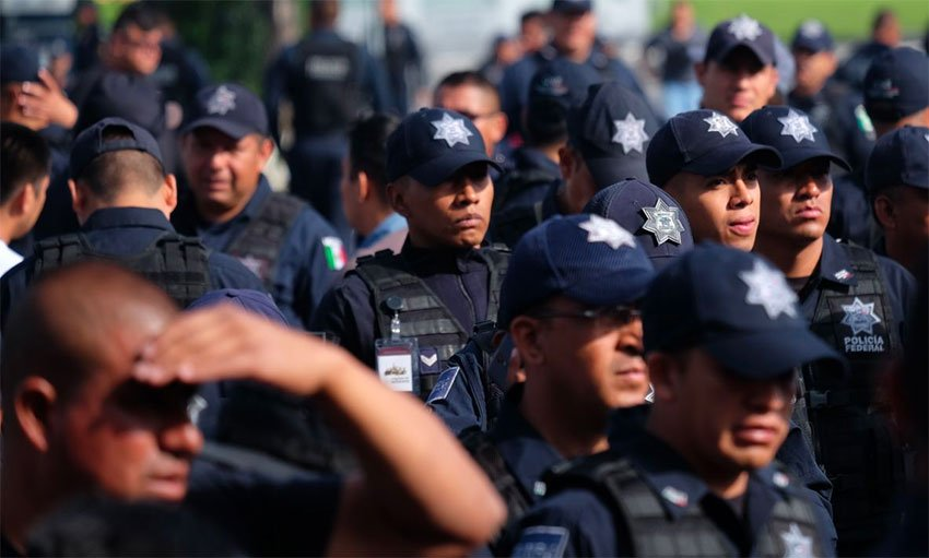 Police had been protesting in Mexico City since last Wednesday.