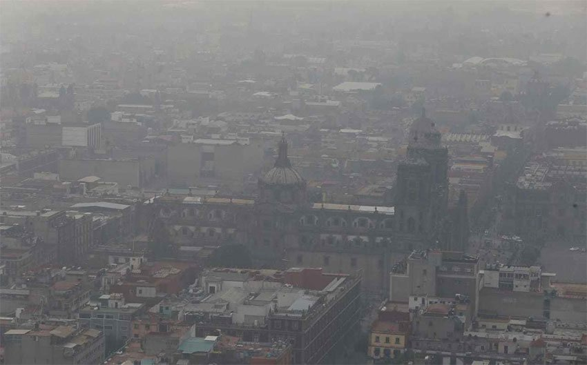 The city was shrouded in smog during an environmental contingency in May.