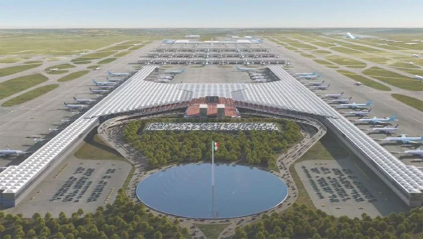 Design of the new airport at Santa Lucía.