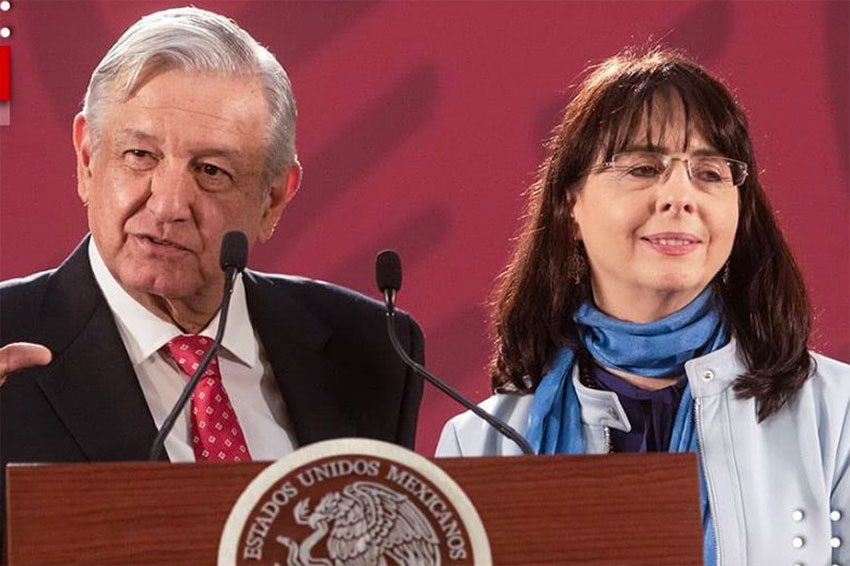 López Obrador and Conacyt chief Álvarez-Buylla.