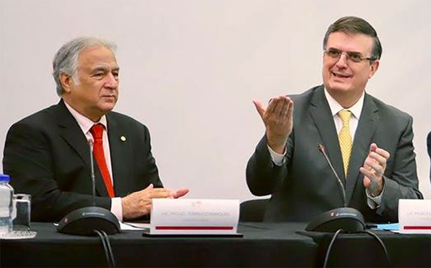 Tourism Secretary Torruco and Foreign Affairs Secretary Ebrard presented the new tourism council yesterday.