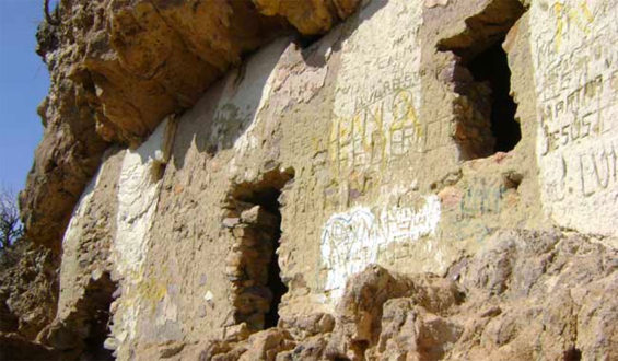 """The """"windows"""" at the Ventanas archaeological site."""