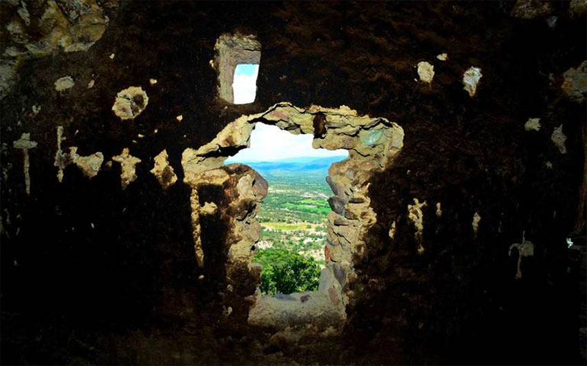 Looking out one of Las Ventanas' windows.