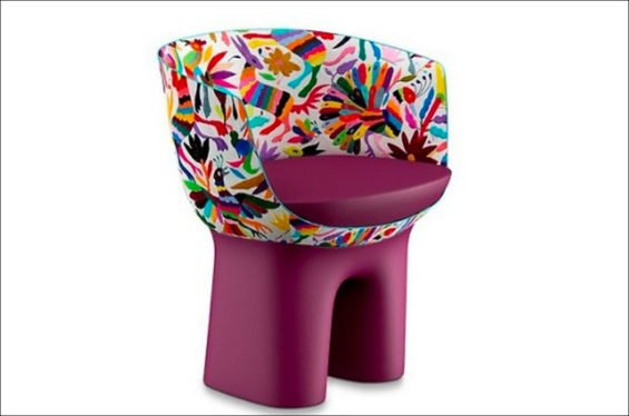 The chair that Mexican culture officials believe uses indigenous designs from Mexico.