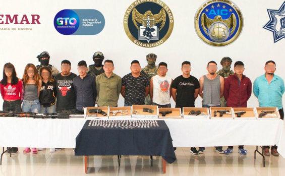 The 16 Guanajuato murder suspects.