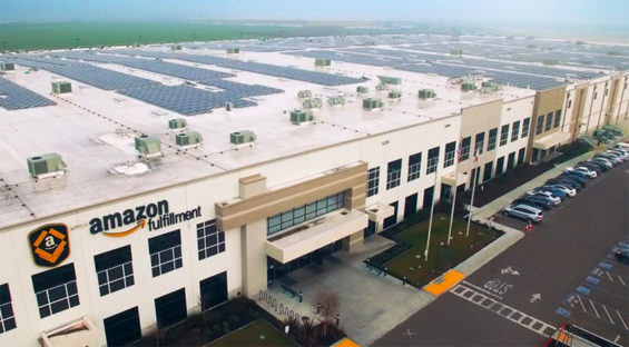 Amazon's new distribution center in México state.
