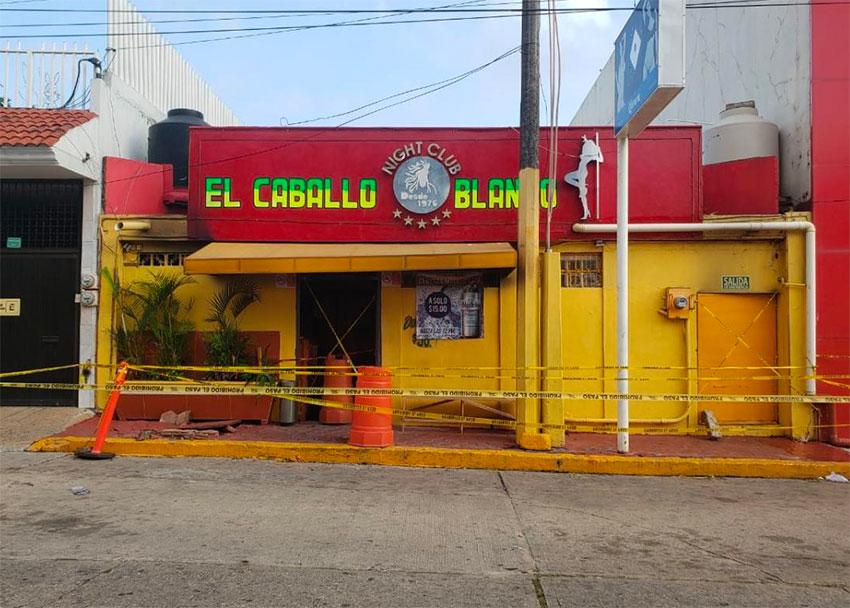 The Coatzacoalcos bar that came under attack Tuesday night.