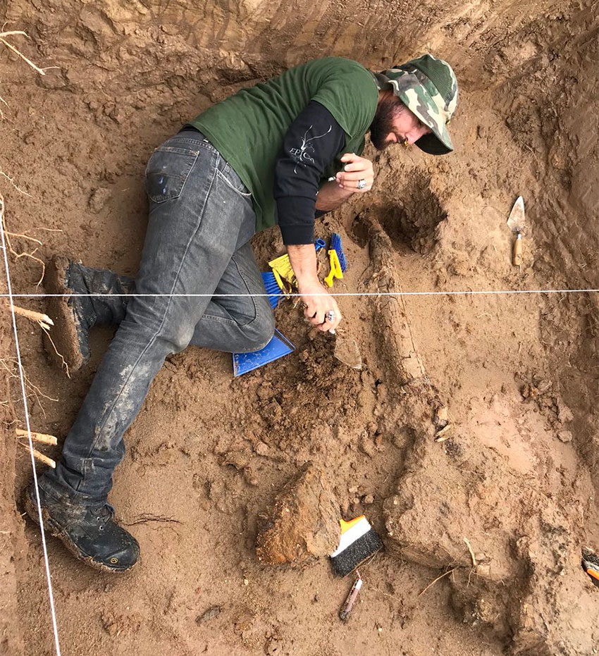 Archaeologist at work.