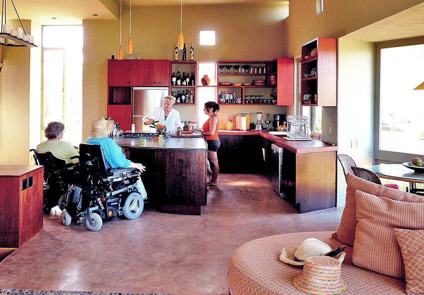Plenty of room for wheelchairs at Casa Cabo Pulmo.