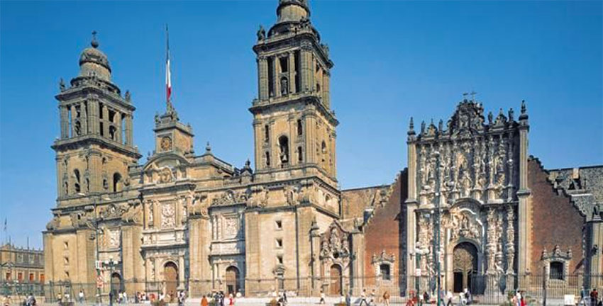 Mexico City's Metropolitan Cathedral, whose original architectural plan will be auctioned.