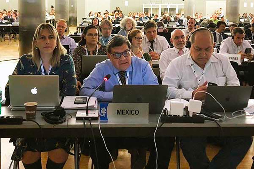 The Mexican delegation in Geneva.