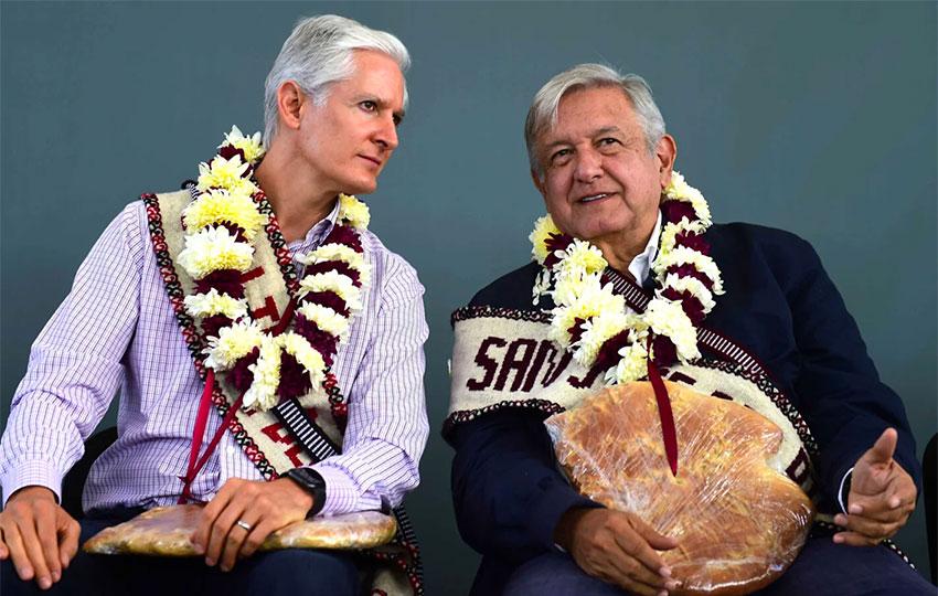 Del Mazo and López Obrador: a good relationship.