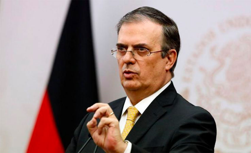 Foreign Affairs Secretary Ebrard.