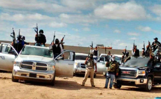 Presumed members of the Mexicles, an arm of the Sinaloa Cartel.