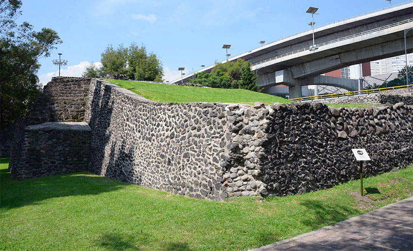 The Mixcoac archaeological site in Mexico City