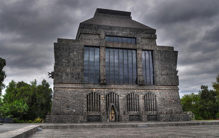 The Museo Anahuacalli, a project to which architect Juan O'Gorman contributed.