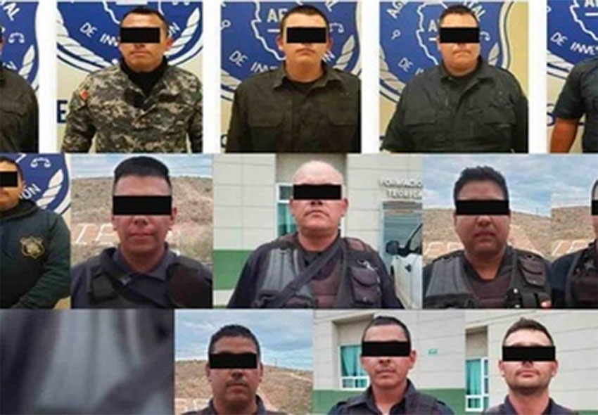 The police officers Madera, Chihuahua, were arrested for protecting drug traffickers.