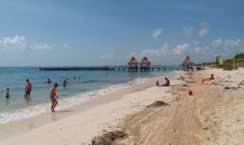 Playa Mujeres on Wednesday morning.