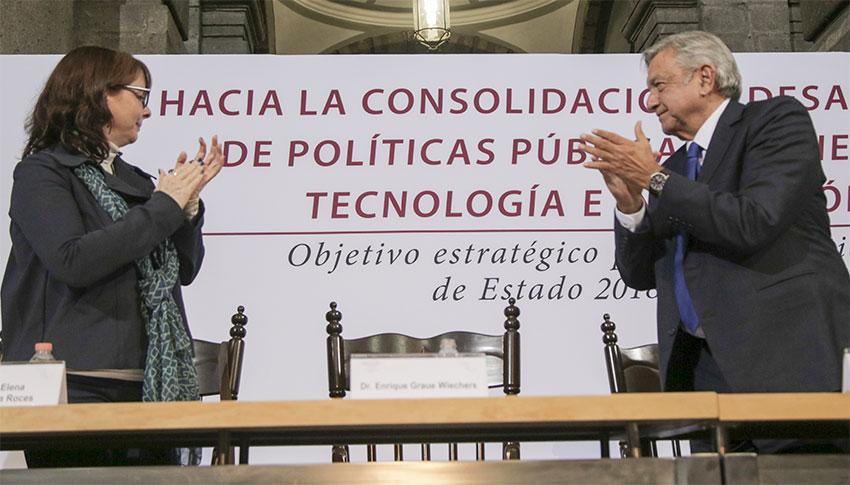 Álvarez-Buylla of Conacyt and López Obrador.
