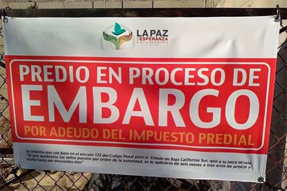 'This property is in the process of being seized,' reads a sign posted by La Paz authorities.