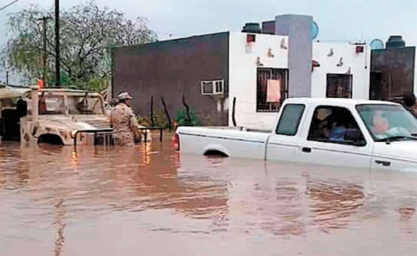 Flooding in Comondú, Baja California Sur.