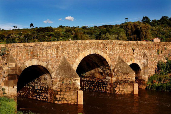 The Puente de Calderón is 60 meters long snd was constructed in the 17th century.