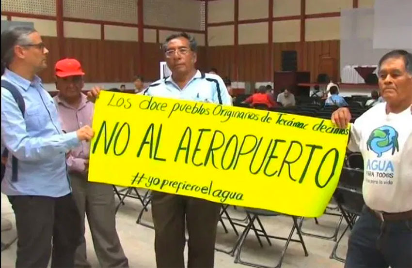 Airport neighbors predict heavy pressure on depleted water resources - Mexico News Daily