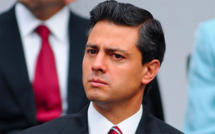 Not a strand of Peña Nieto's hair is out of place, thanks to all that gel.