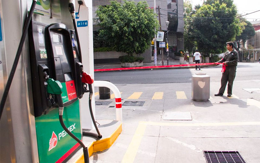 Out of gas. One of the Puebla stations that had to close.