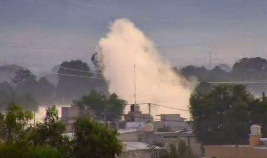 Sunday's gasoline leak in Acolman.